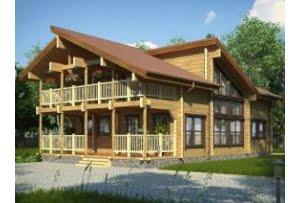 Деревянный дом Прованс