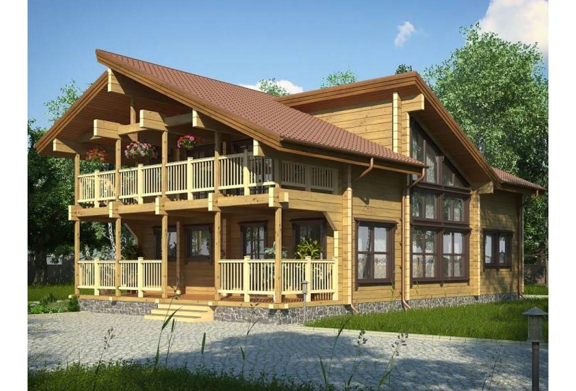 Дом из клееного бруса Прованс