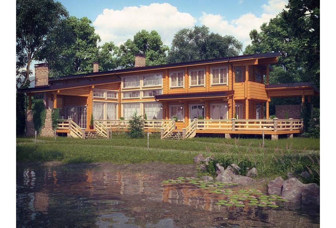 Проект дома из клееного бруса Финляндия