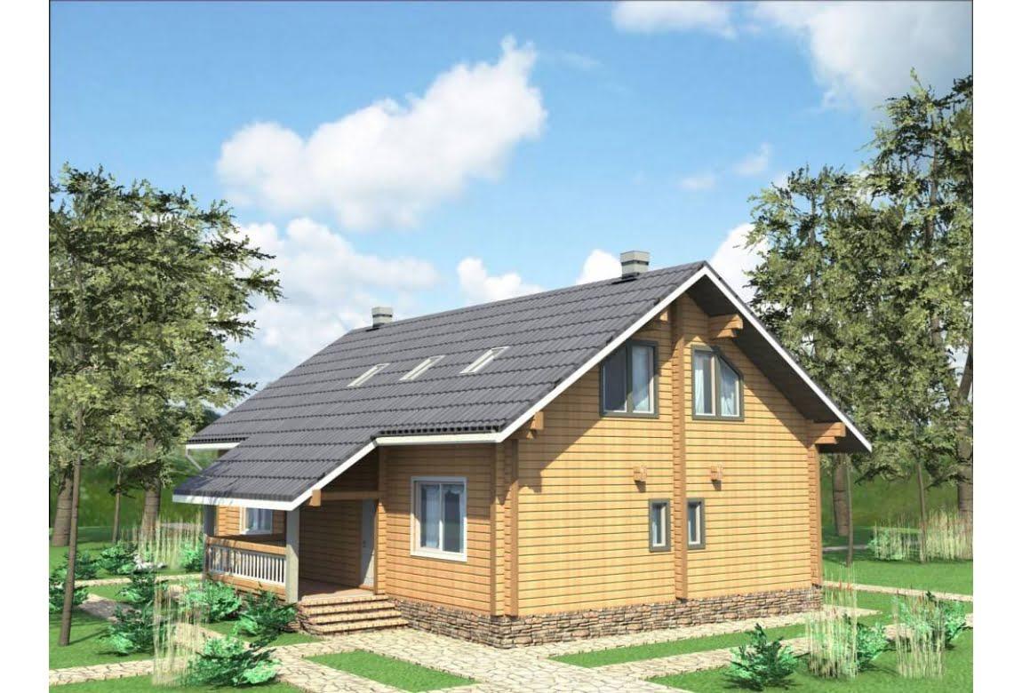 Деревянный дом Альпы 240