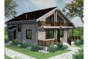 Проект дома из клееного бруса 250