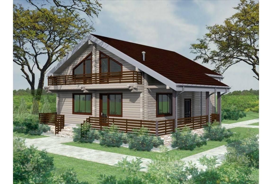 Деревянный дом Лапландия 250