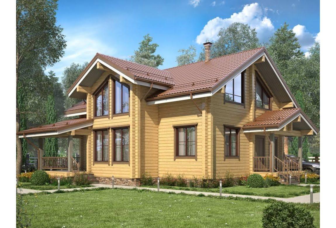 Дом из клееного бруса Норвегия