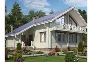 Проект дома из клееного бруса 210