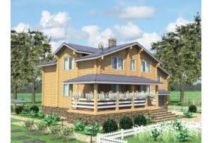 Проект дома из клееного бруса Фаустово