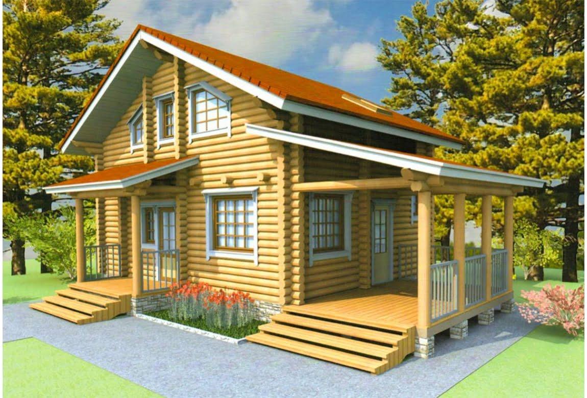 Проект дома из бревна Миндальная Роща
