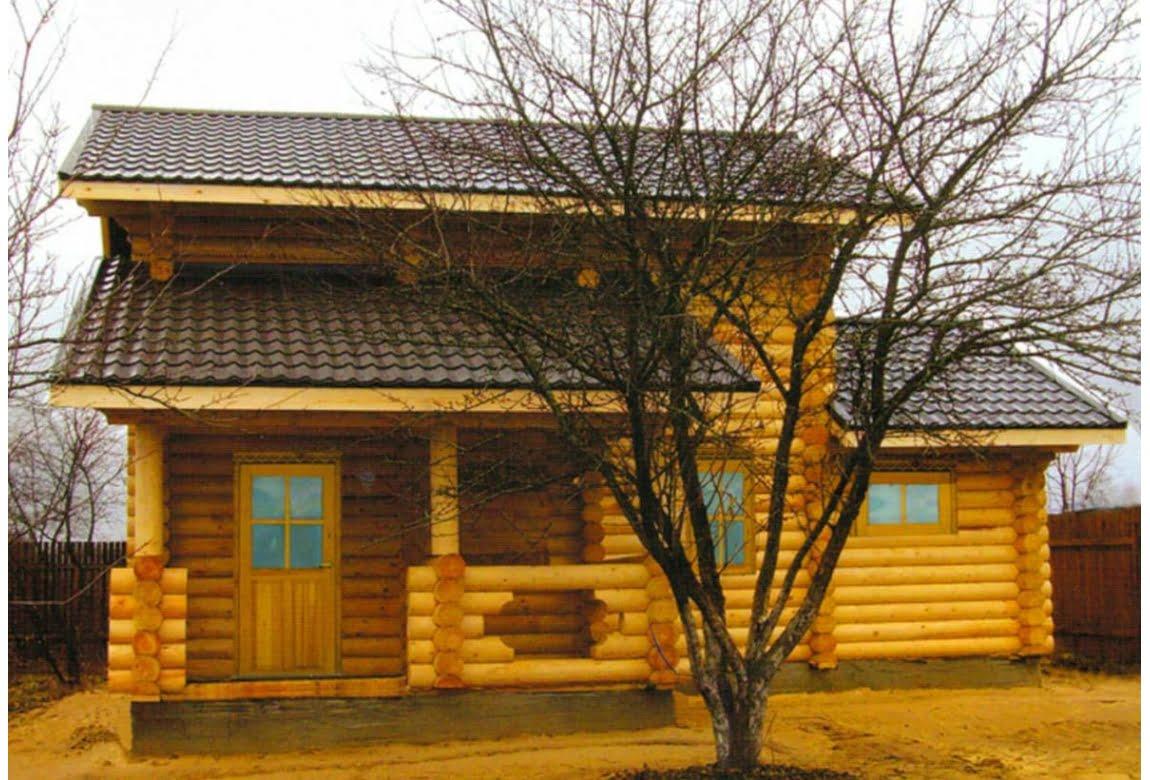 Дом из оцилиндрованного бревна Уральский Кряж
