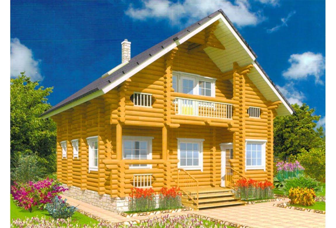 Дом из оцилиндрованного бревна Василиск