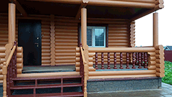 Дом из оцилиндрованного бревна в М.О. д. Кузнецово