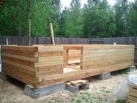 Строительство стен бани