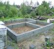 Строительство фундамента блочного дома