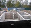 Строительство фундамента дома из несъемной опалубки