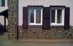 Отделка фасада дома камнем
