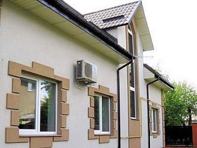 Отделка фасадов коттеджей ро строй